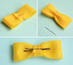 DIY felt bowtie pin