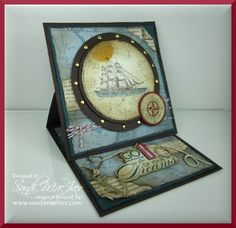 easels, stamp sets, sea easel, easel cards, the open seas, sail card, men card, card tutorials, the open sea stamp set