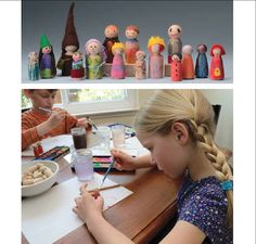 How to Make Wooden Peg Dolls. So simple, and oh-so sweet!