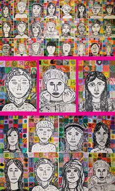 chuck close inspired portraits using fingerprints