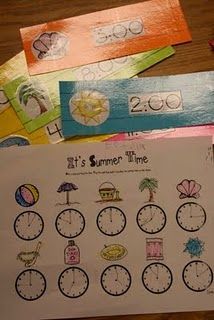 summer clock/time fun