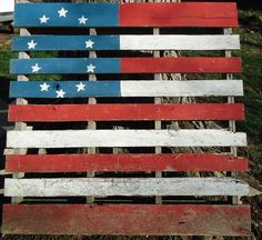 holiday, pallet boards, front yards, 4th of july, paint pallets, pallet art, home parties, front porches, pallet flag