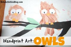 Create this fun handprint art owl project with your kids!