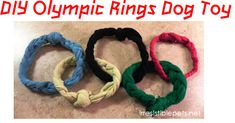 DIY Pet Project Olympic Rings Dog Toy