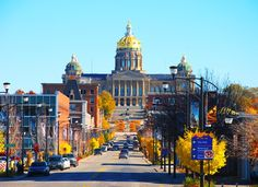 East Village Iowa State Capitol Fall Des Moines 8 x by artbymagic, $30.00