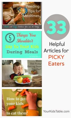 Tons of ideas, strategies, and tips to overcome picky eating all written by a mom and OT that specializes in feeding kids!