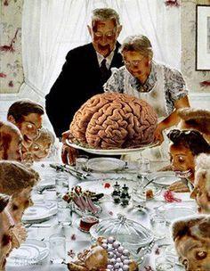 dinner, funni, zombi apocalyps, happi thanksgiv, walk dead, thanksgiving, brain, zombi thanksgiv, zombies