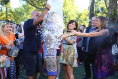 That's what friends are for…thanks for lending a helping hand @Ginger_Zee and @ddlovato ! #ALSIceBucketChallenge @gma