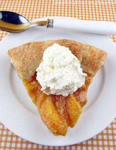 Peaches & Cream Galette