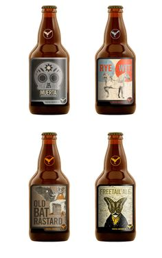 Freetail Brewing Company's beer bottle design. Seriously god-like, old school package design.