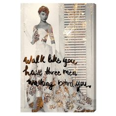 Walk Like You Have Canvas Print