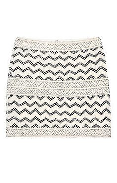 Nicole Miller Animal Sequin Skirt
