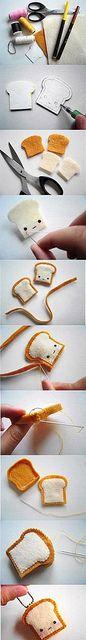 DIY felt toast