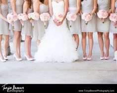 A detail shot featuring the bridesmaids shoes and bouquets! A classic wedding with light pink bouquets!  riverhouse wedding photos - st augustine florida - tonya beaver photography011