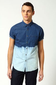 Give a classic denim shirt a twist with tie dye. Only for the brave! www.boohoo.com #trends #menswear #fashion