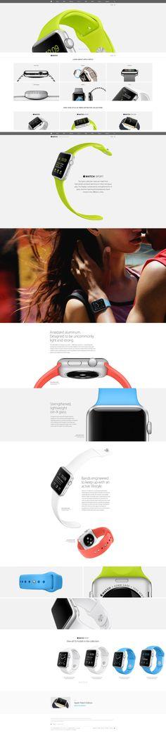 Apple's new #AppleWatch #webdesign #apple #paralax on #Twitpic