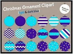 christmas ornament clipart, blue, holiday clip art