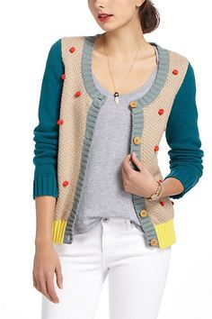 Pompom Blitz Cardigan #anthropologie