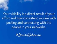 How often should I post to get visibility? This is one of the primary questions that online entrepreneurs face. There are no rules but there are guidelines.  #visibilitytip #onlinevisibility #AskDenise