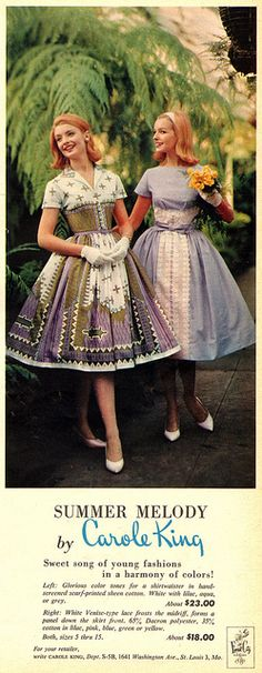 A sweetly beautiful pair of early 1960s warm weather dresses. #vintage #retro #1960s #fashion #dress