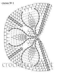 Белая ажурная шаль - Вязание Крючком. Блог Настика. Схемы, узоры, уроки бесплатно