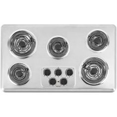 #8: Maytag MEC4536WC 36 Electric Cooktop - Brushed Chrome.