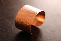 Hammered copper cuff $40