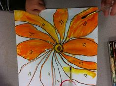 The Flower Fell off the Paper - Georgia O'Keefe 2nd grade lesson. Good tips for getting big bold flowers from the kids.