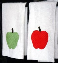 Apples Tea Towel Set of 2 by 15PiecesofFlair on Etsy, $16.00