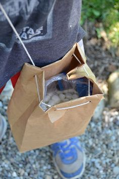 marshmallow shooter ammo bag - to go with sling shots for David and Goliath