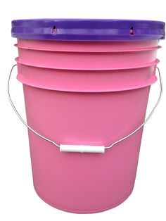 Who knew buckets could be pretty in pink? Great for use in my garden. They are FOOD GRADE so I use them for harvest and for brining pickles. Also great for long term food storage.