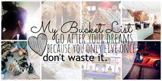 My Bucket List! – Simply Taralynn
