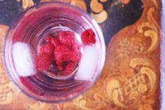 Homemade Raspberry flavored water.