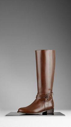 Burberry Equestrian Leather Boots