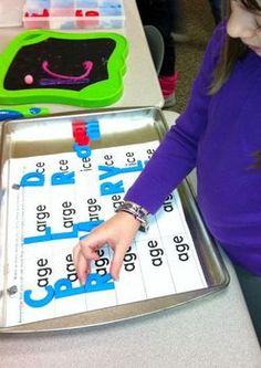Let's Make Words! Short Vowel Word Family Literacy Station