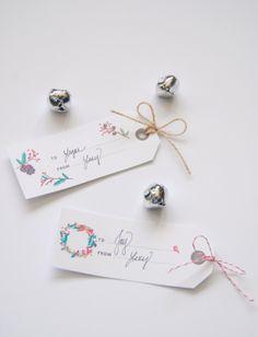 Giftwrap Galore - Tissue Fringe, Reindeer Pom Poms, Downloadable Tags & More