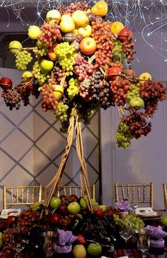 Fruit Centerpieces for Lavish Wedding   Inspirations