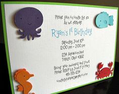 Under the Sea Party  Invitation  Sea Animals by ScrapYourStory, $2.50