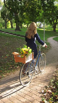 Lightweight Wood Bicycle Basket - I'd love to have this on the back of my Nirve bike.  :)