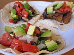 Tempeh Mushroom Avocado Tacos