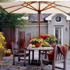 Patio Dining Room in the FAll