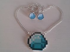 Minecraft necklace!