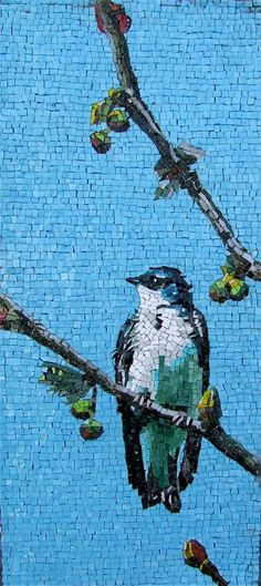 """Una piccola Grazia,"" Smalti & Vitreous Glass, by Michael J. Kruzich of MK Mosaics, San Francisco #mosaic"
