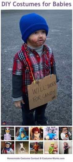 Homemade Costumes for Babies - this website has tons of DIYcostumes costume ideas!