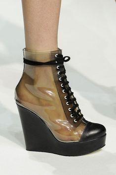 Transparent Wedges ankle boot  @ Véronique Leroy Spring 2013 #PFW Paris #Fashion Week #Style