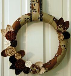 Desert Camo Wreath for hunting season