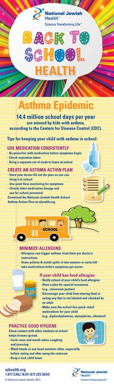Back-to-School Health #asthma #infographic #healthtips