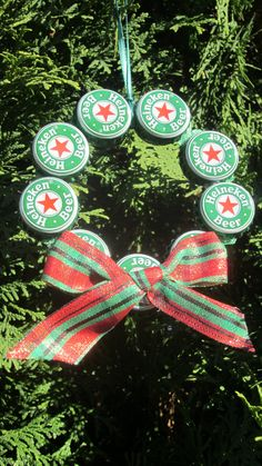 Upcycled Beer Bottle Cap Christmas Ornament by tadaworkshop