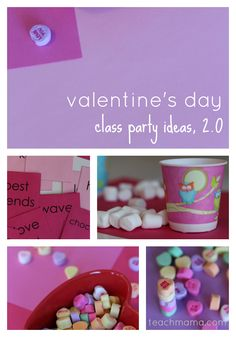 Fun Class Games - can be adapted for other holidays. Valentine's day class party ideas, 2.0 | fun ideas to get groups of kids moving and having fun | minute to win it games | free printables | teachmama.com holiday, party games, fun idea, valentine day, parti game, class parti, valentines day party, parti idea, kid