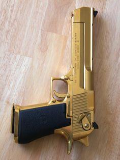 Desert Eagle .50 AE pistol in gold